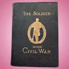 "Scarce ORIGINAL 1893 ""The Soldier In Our Civil War Vol II"" Frank Leslie HUGE Tabloid Victorian Book"