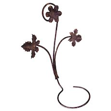 1930's-1940s Painted Metal Wall Hanger for Flower Pot