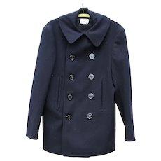 Wear it ! ... Outstanding 1940s US Navy World War II Peacoat Pea Coat Unisex