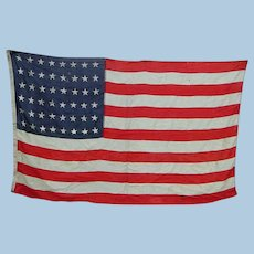 48-Star American Flag by Annin Flagmakers Sterling Bunting World War II Era Old Glory