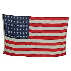 48-Star American Flag by Annin Flagmakers Sterling Bunting World War II Era Old Glory