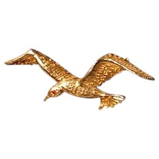 Large Boutique Style Bird in Flight Brooch