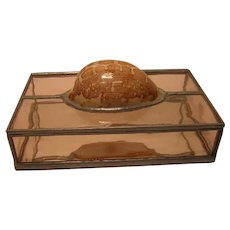 Stained Glass Dresser Box with Shell