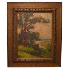 Vintage Impressionist Oil Painting
