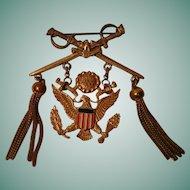 Vintage Patriotic / Military Themed Brooch