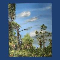 Impressionist Oil Painting 'Amberjack Environmental Park' ART by Josty