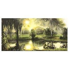 Impressionist Oil Painting 'Broadmoor Park' ART by Josty