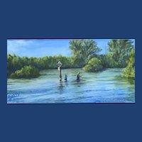 Impressionist Oil Painting 'Manasota Key' Art by Josty
