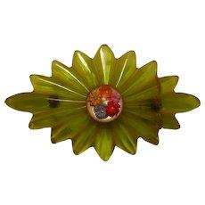 Vintage Bakelite Pin with repair