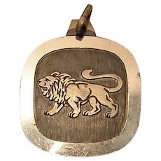Vintage Leo Sterling Silver Pendant