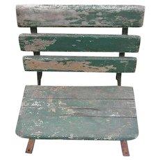 Vintage Bench Seat for Old School Desk