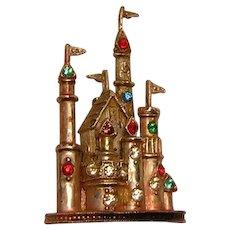 Vintage Plastic Pin Castle