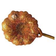 Vintage 14k Gold and Diamond-like Stick Pin