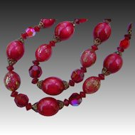Vintage Judy Lee Moon-glow Beaded Necklace