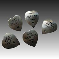 Vintage Western Concho Style Heart Pins