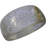 Vintage Lucite Bangle with Silver Glitter