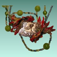 Art by Josty Collage Necklace  'Reflections'