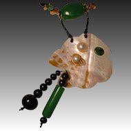 Josty Collage Necklace and Earring Set  'Fantasy Fish'