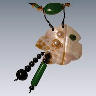 Collage Necklace and Earring Set  'Fantasy Fish' Art by Josty