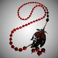 Art by Josty Collage Necklace 'Luscious Fruit'