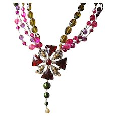 Josty Collage Necklace 'Born again Bling III'