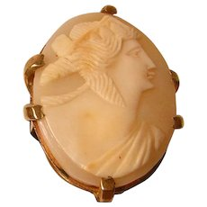 Vintage Gold Filled Cameo Ring
