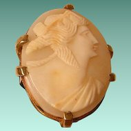 Vintage Large Shell Cameo Ring