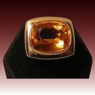Vintage 14k / 585 Gold and Citrine Ring