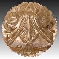 Vintage Carved Mother of Pearl Pin