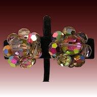 Vintage Aurora Borealis Clip-back Earrings