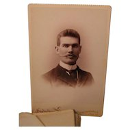 Antique Class of 1892 Wabash College Hand Stitched Photo Album