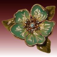 Vintage Monet Enameled Flower Pin