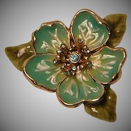 Vintage Monet Enameled Flower Pin