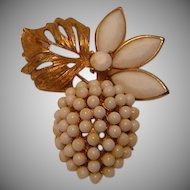Vintage White Fruit Pin