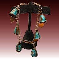 Vintage Enameled Bracelet with Bells