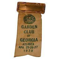 Vintage 1938 Garden Club Name Badge