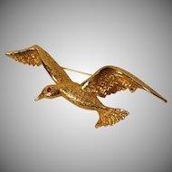 Vintage Seagull Pin / Brooch