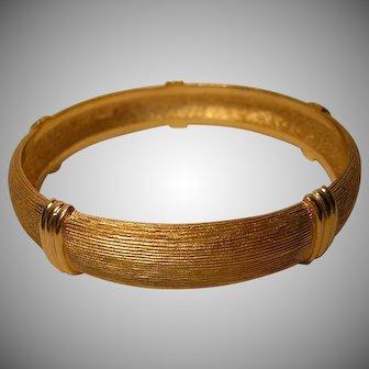 Vintage Christian Dior Brushed Gold-tone Bracelet