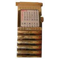 Vintage Men's Speidel Expanding Watchband with 1991 Calendar