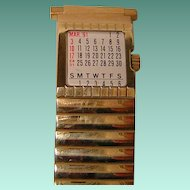 Vintage Men's Speidel Expanding Watchband with 1991 Calendar