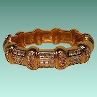 Large Vintage Rhinestone Bracelet by St. John