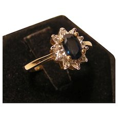 Vintage Blue Stone Ring