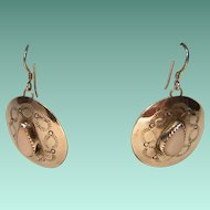 Vintage Western Style Sterling Silver Earrings