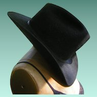 Vintage Black Cowboy Hat by Don's Western Wear Resistol