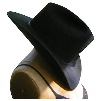 Vintage Black Cowboy Hat by Don's Western Wear Resistol