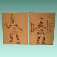 Vintage Kachina Style Paintings