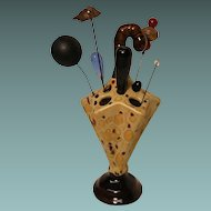 Vintage Hatpin Collection in Hatpin Holder
