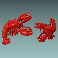 Vintage Gerrys Lobster Pins