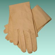 Vintage Kid Leather Ladies Long Gloves