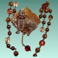 Art by Josty Collage Necklace  'Kitty Kitty II'